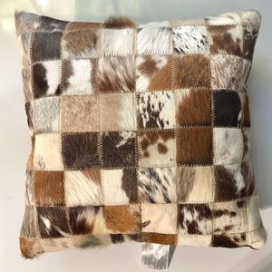 Torino Multipatch Cowhide Pillow